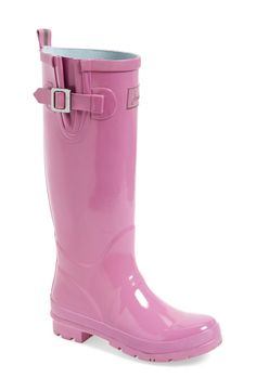 Free shipping and returns on Joules 'Field Welly' Rain Boot (Women) at Nordstrom.com. A solid hue with a pair of colored stripes down the back shaft perfects a puddle-proof rubber rain boot set on a traction-gripping sole. A side gusset makes for a comfortable fit, while a gleaming goldtone buckle finishes the look with a dash of on-trend appeal.