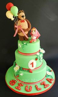 Masha and the bear cake for my little princess first birthday!