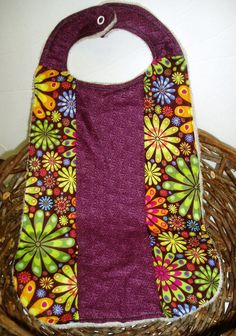 XLarge Toddler Bib  Hippie Chic Patchwork Bib by BrennysBibbies, $9.00