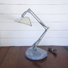 A wonderful, gray mid century articulated architect lamp by Luxo. This is a rare flourescent, FL-2, desk light. What an amazing industrial look this Luxo lamp has; just imagine it in your home! A wonderful addition to a modern or industrial home or office! Industrial House, Modern Industrial, Electric Window Candles, Architect Lamp, Anglepoise Lamp, Light Crafts, Desk Light, Vintage Pink, Desk Lamp