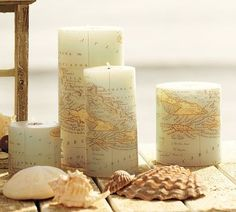 DIY Map candles