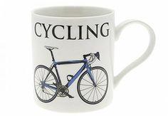 Cycling Fine China Oxford Mug - Watchbox Online @ Watch Box, Fine Art Gallery, Fine China, Travel Mug, Cycling, Mugs, Tableware, Oxford, Biking
