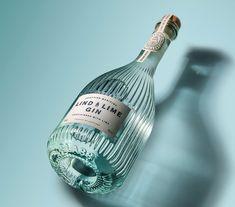 lind and lime gin Beverage Packaging, Bottle Packaging, Brand Packaging, Tonic Drink, Gin And Tonic, Vodka, Tequila, Label Design, Branding Design