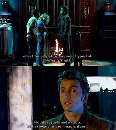 Image about funny in Doctor who? -Just the doctor💜 by chilichi Geeks, Serie Doctor, Doctor Who Episodes, 10th Doctor, Twelfth Doctor, Don't Blink, Torchwood, David Tennant, Dr Who