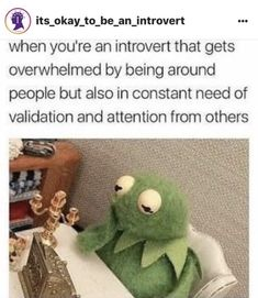 when you're an introvert but need validation and attention from others