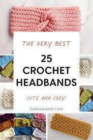 25 Crochet Headbands and Ear Warmer Patterns - Sarah Maker Crochet Ear Warmer Pattern, Crochet Slipper Pattern, Crochet Headband Pattern, Crochet Slippers, Crochet Patterns, Crochet Cable, Tunisian Crochet, Free Crochet, Easy Crochet