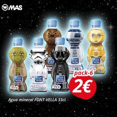 ¡Qué chula la edición especial de las botellas de #StarWars! Ya disponibles en nuestras tiendas