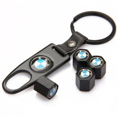 CzlpV Black Car Wheel Tire Valve Caps Tyre Stem Air Caps Keychain Styling For BMW - This features a set of brand new Tire Valve Stem Cap (4pcs) with a Wrench Key Chain . 100% Brand new .Universal fit for all vehicles .Quantity: 4 pieces of Tire Valve Stem Cap, and a Wrench Key ChainMade of High Quality Zinc Alloy .Rubber seal ring inside to reduce air leak and prevent dust and d...