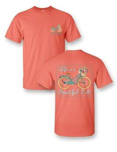 Sassy Frass Tee Life's a Beautiful Ride on Comfort Colors 2X & 3X