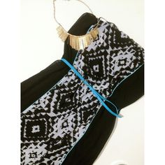 Black & Tribal Print Maxi Beautiful maxi! Comes with belt! Dresses
