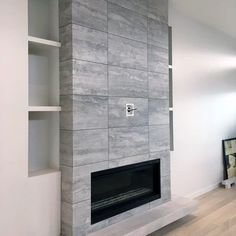 From herringbone marble patterns to ceramic subway and mosaic, discover the top 60 best fireplace tile ideas. Explore luxury interior designs for your home. Tiled Fireplace Wall, Fireplace Tile Surround, Shiplap Fireplace, Farmhouse Fireplace, Fireplace Hearth, Home Fireplace, Fireplace Remodel, Modern Fireplace, Fireplace Surrounds