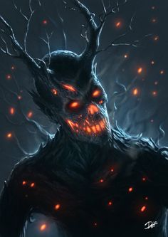 Tree-Demon by demons i 2019 fantasy art, horror art Dark Fantasy Art, Fantasy Artwork, Dark Art, Fantasy Demon, Demon Artwork, Final Fantasy, Monster Art, Fantasy Monster, Tree Monster