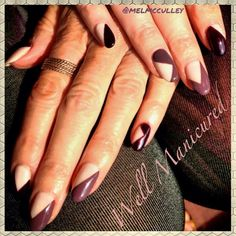Geometric gel mani done w the new Fall colors by #Gelish. Gorge! #wellmanicured #nails #manhattanbeach #southbay #hermosabeach #beauty #fallbeauty #freehand #gel #nails2inspire #geometric #nailartist #nailpics #edgy #trendy #falltrends #rich #artist #paint #intheheartofthesouthbay #bestnailsinthesouthbay #Padgram