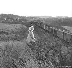 Southern Railway circa 1948- a train crosses the trestle over Blackwater Creek
