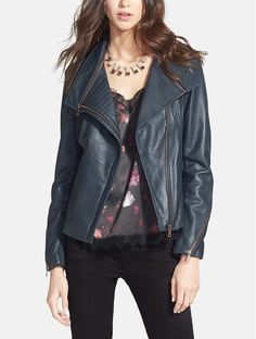 Style this sleek moto jacket with your go-to printed dress, or with jeans and a graphic tee.