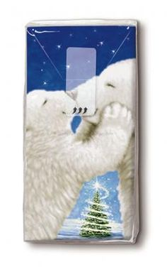 bedruckte Taschentücher Kuss der Eisbären - Servietten Versand Tischdeko Kerzen OnlineShop Paper Design, Dinner Napkins, Christmas, Kiss, Ideas, Candles