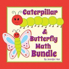 Preschool caterpillar and butterfly math games and activities.  A great addition to a Very Hungry Caterpillar unit.