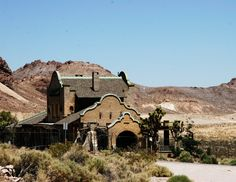 Railroad Ghost Towns of America | Train station in Rhyolite Nevada, a really truly ghost town, abandoned ...