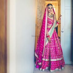 All Indian Bride used to very excited about there wedding shopping. When its come to Bridal lehenga bride used to visit the market, brand and online to Designer Bridal Lehenga, Pink Bridal Lehenga, Lehenga Wedding, Pink Lehenga, Bridal Lenghas, Bollywood Wedding, Indian Bridal Outfits, Indian Bridal Wear, Indian Dresses