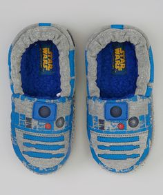 Blue & Gray R2D2 Slippers by Stride Rite #zulily #zulilyfinds