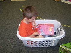 Growing my Kindergarten: First Day of Kindergarten - I can see my kids liking this idea - some personal reading space