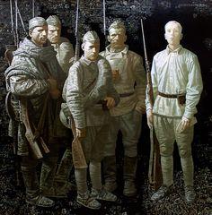 Взвод. Художник: Игорь Кравцов, 2010. Platoon. Artist: Igor Kravtsov, 2010.