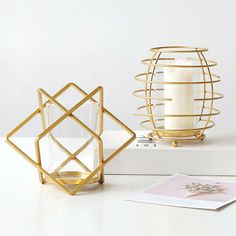 Candle Holder Nordic Style Props Ornament Party Geometric Home Decor Metal Craft #candle #holders #accessories (ebay link) Geometric Candle Holder, Copper Candle Holders, Candle Holders Wedding, Minimalist Candle Holders, Minimalist Candles, Candle Wall Sconces, Nordic Style, Metal Crafts, Candlesticks