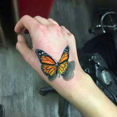 Monarch tattoo.