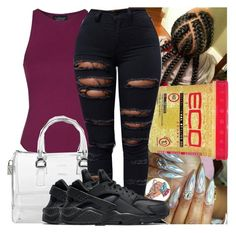 """🐌"" by kodakdej ❤ liked on Polyvore featuring Topshop, Furla and NIKE"