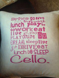 Cello pillow gift
