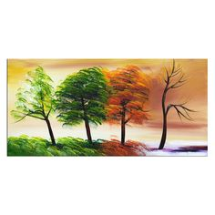 Shop Designart Canada  PT373s-32-16 Four Seasons Canvas Painting at Lowe's Canada. Find our selection of canvas art at the lowest price guaranteed with price match + 10% off.