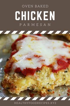 Quick Easy Baked Chicken Parmesan Recipe, Baked Chicken Parmesan and Mayo, Baked Chicken Parmesan for A Crowd, Baked Chi Oven Baked Chicken Parm Recipe, Parmesan Chicken Breast Recipe, Baked Chicken Cutlets, Baked Garlic Parmesan Chicken, Oven Roasted Chicken, Easy Baked Chicken, Yummy Chicken Recipes, Baked Chicken Breast, Zucchini Parmesan