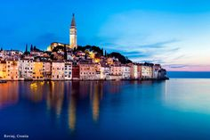 Beautiful Towns of Europe: Rovinj, Croatia  The peninsula that Rovinj sits on was originally an island, the channel separating it from the mainland was filled in 1763. Rovinj remains one of the last true Mediterranean fishing ports.   Do you think of Italy when you see Rovinj? That's no surprise! Rovinj has close historical ties with Italy, and it's only a two hour ferry trip from Venice.