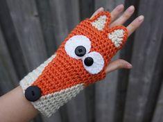 PATTERN ONLY Crochet Fox fingerless gloves, cute animal armwarmers, animal wristwarmers, kawaii cute gloves pattern size adult women/teens Crochet Mitts, Crochet Fox, Crochet Gloves, Crochet Scarves, Cute Crochet, Crochet Unicorn Hat, Crochet Animal Hats, Crochet Kids Hats, Fingerless Gloves Knitted