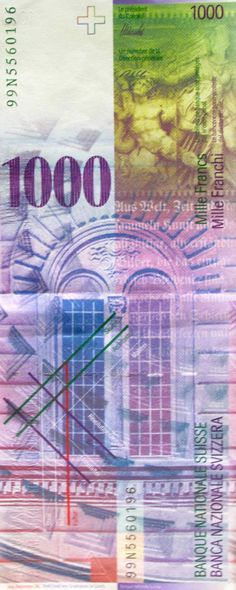 1000 Swiss Francs - I wouldn't mind if one of these happened to come my way. :D