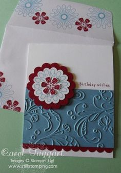 Pretty and simple card/envelope - lelegant lines, scallop punch