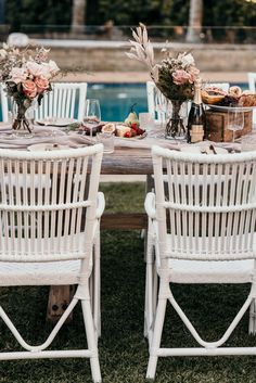 Picture perfect set up for an outdoor garden long lunch, soiree or party with friends and family. Cheers to that! Styled by our friends at Little Lane Events Outdoor Furniture Sets, Outdoor Decor, Lunches, Cheers, Events, Table Decorations, Friends, Garden, Party