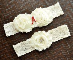 Alabama Crimson Tide Wedding Garter Set by SportsGarterShop, $25.00