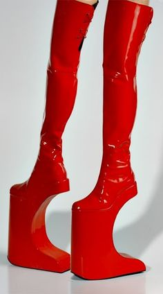 From Japan - I'd love to see someone  try and walk in these.