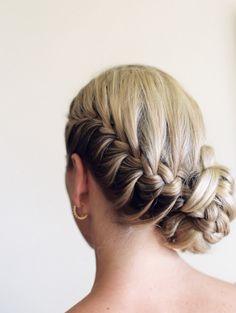 French braided updo: http://www.stylemepretty.com/destination-weddings/2013/11/20/maui-wedding-from-wendy-laurel-6/   Photography: Wendy Laurel - http://www.wendylaurel.com/