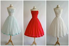 1950s Style Sun Dress Vintage 50s Style Swiss by xtabayvintage