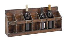 Distressed Brown Wood Wine Rack for sale online Wine Bottle Rack, Bottle Wall, Diy Bottle, Bottle Crafts, Hanging Wine Glass Rack, Wine House, Wood Wine Racks, Wine Storage, Storage Ideas