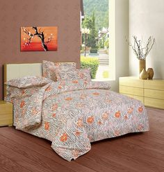 Buy online orange comforter, Duvets covers and Pillow covers. Add a little fun to your bedroom with this exclusive orange printed bed sheet from By Adab. Hotel Collection, Bath Linens, Bed, Designer Bed Sheets, Bedding Sets Online, Linen Store, Linen Bedding, Home Decor, Textured Walls