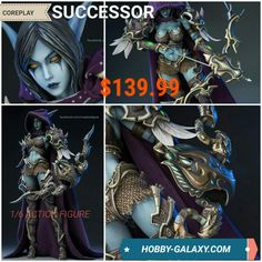 Coreplay Successor 1/6 Scale Action Figure! $139.99!  Pre-Order at Hobby-Galaxy.com!  #coreplay #wow #darkelf #worldofwarcraft #worldofwarcraftaddict #actionfigures #actionfigure #onesix #onesixthfigure #onesixscale #onesixthrepublic