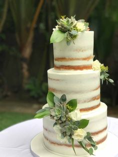 Gold Wedding Cakes Semi Naked with Succulents Wedding Cake Knife And Server Set, Nake Cake, Succulent Wedding Cakes, Green Cake, Fresh Flower Cake, Rustic Cake, Wedding Cake Toppers, Wedding Bouquets, Wedding Flowers