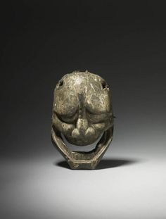 A wood Noh mask carved as Hannya, 17th century, Edo period, Japan