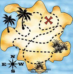 pirate treasure map printable | Tags: Pirate , Treasure Hunt , Treasure Map