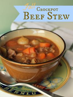 Fall Crockpot Beef Stew--I made this and it's really flavorful! It was a change from my old stand by. MMMmmm!