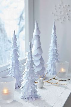 Christmas decoration decoration for. - Christmas decoration decoration for… Christmas decoration decoration forest made of paperCraft idea Christmas: DIY paper forestDIY – green winter star with template Christmas Crafts To Make, Christmas Projects, Simple Christmas, Holiday Crafts, Christmas Paper, Diwali Decorations At Home, Christmas Decorations, Cone Christmas Trees, Christmas Ornaments