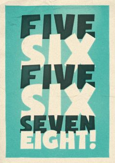 Lindy Lyrics - 5, 6, 5, 6, 7, 8 - Retro Style Swing Poster - A3+ Unframed